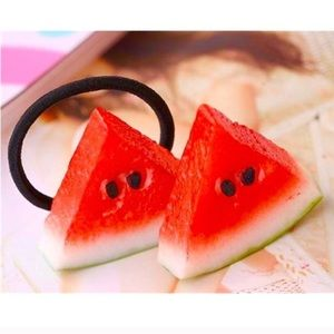 Accessories - Watermelon hair tie and clip